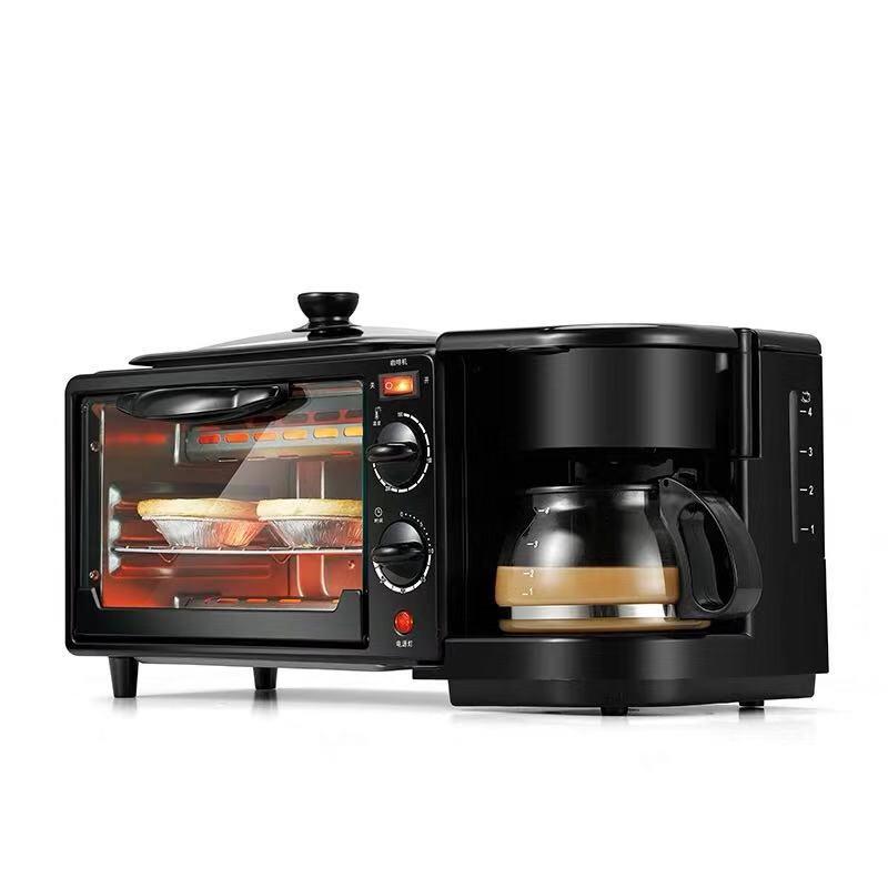 جهاز صنع الإفطار متعدد الوظائف ثلاثة في واحد فرن كهربائي منزلي جهاز إعداد الإفطار