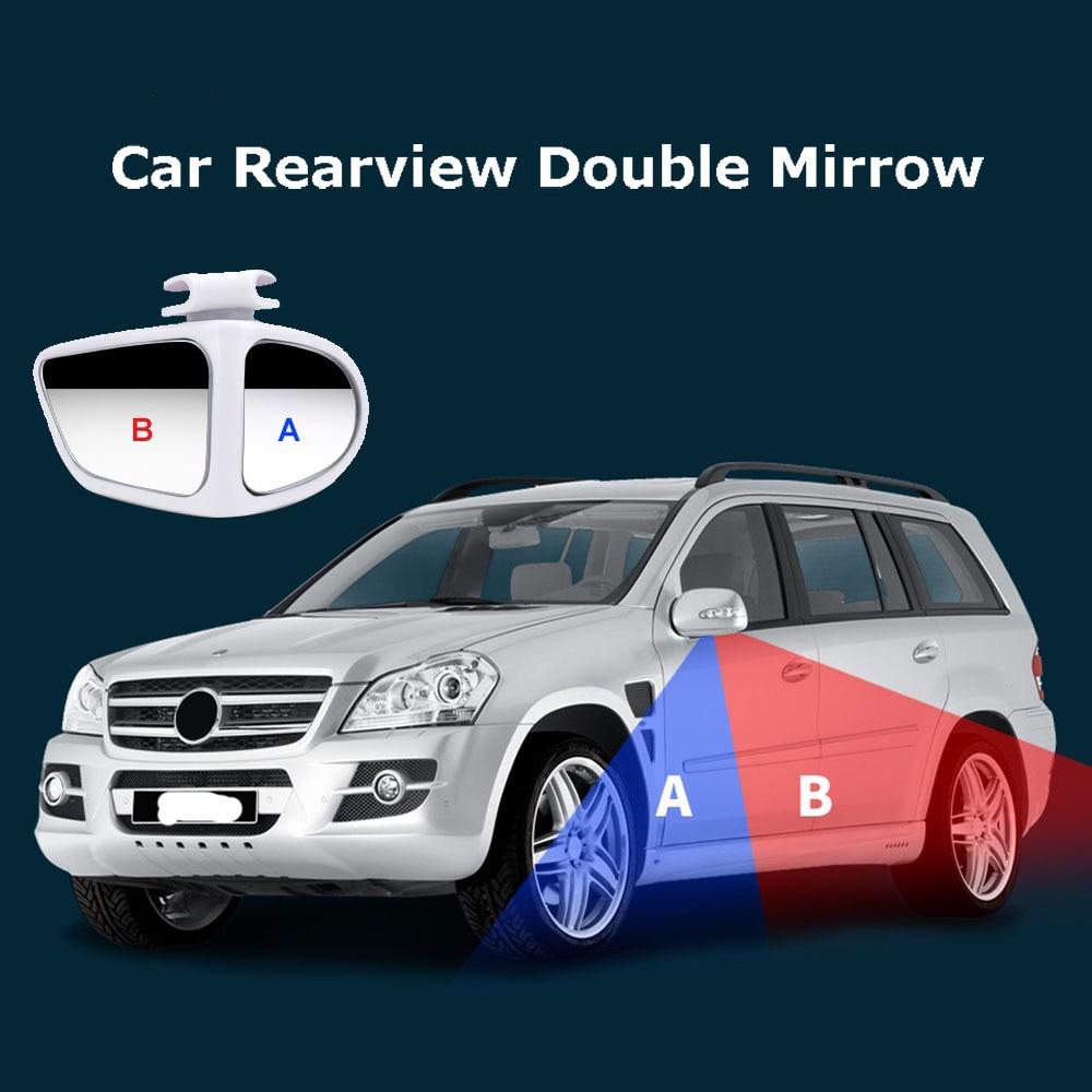 Автомобильное Зеркало для слепых зон с углом обзора 360 градусов, поворотное регулируемое 2-стороннее широкоугольное наружное Автомобильное...