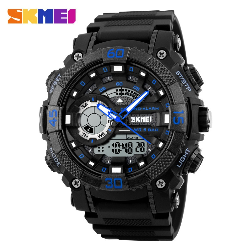 SKMEI1228 Men's Water Electronic Watch Personality Outdoor Sports Multifunctional Male Student Watch