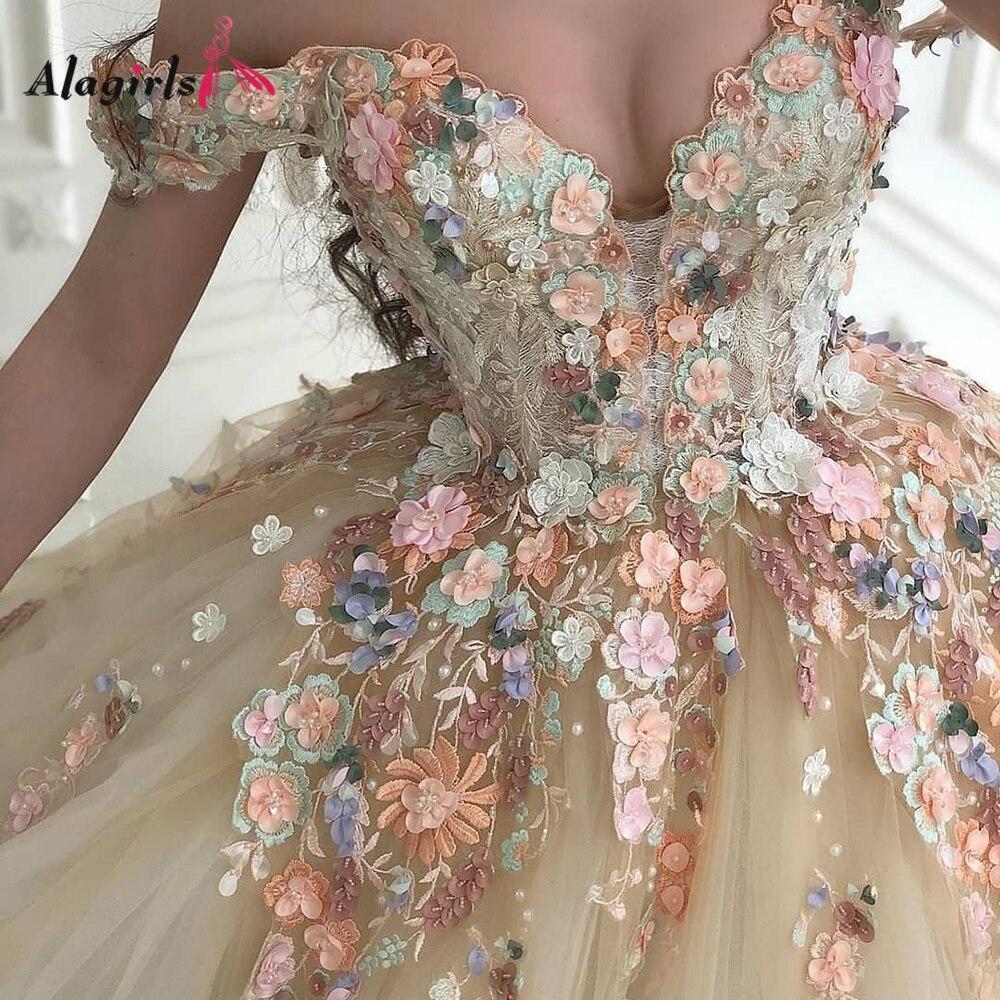 off The Shoulder Wedding Dress Appliques Beading Princess Wedding Dress A-line Chapel Train Wedding Dresses For Bride vestidos