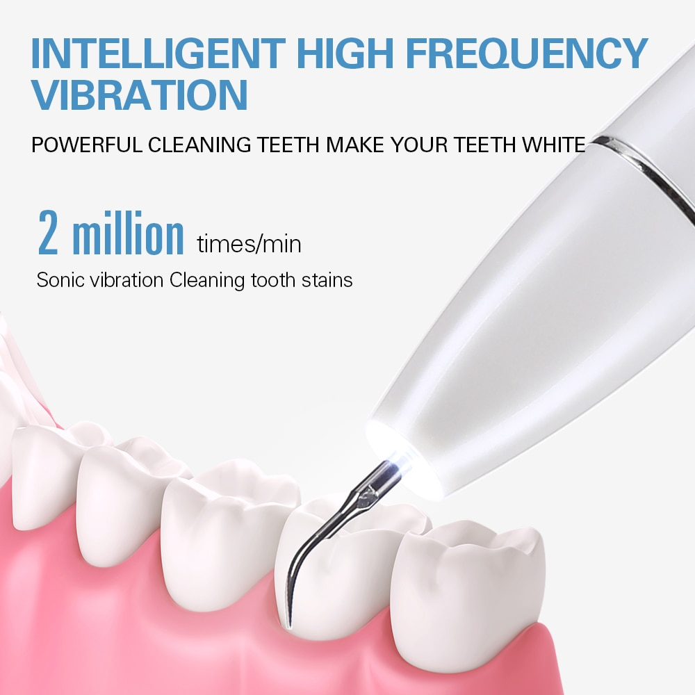 Home Ultrasonic Calculus Remover Dental Scaling Electric Portable Scaler Sonic Smoke Stains Tartar Plaque Teeth White enlarge