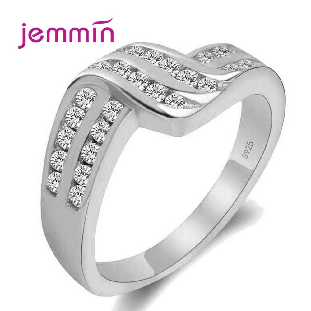 Nouvelle torsion classique zircon cubique bague de fiançailles de mariage pour femme filles cristaux autrichiens cadeau 925 bagues en argent Sterling