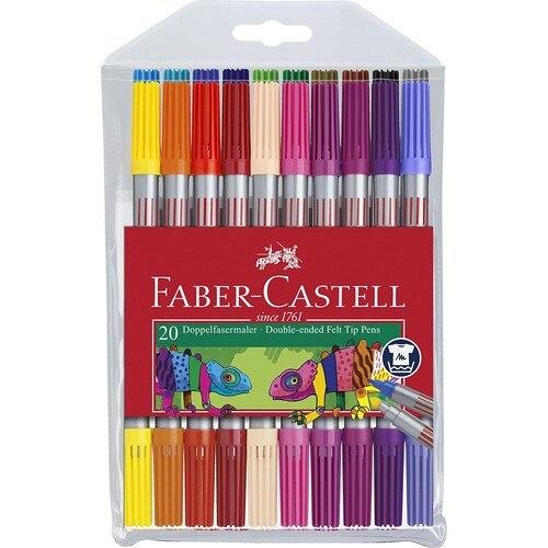 Faber-Castell Doppelseitige Fühlte Stift 20 Farbe