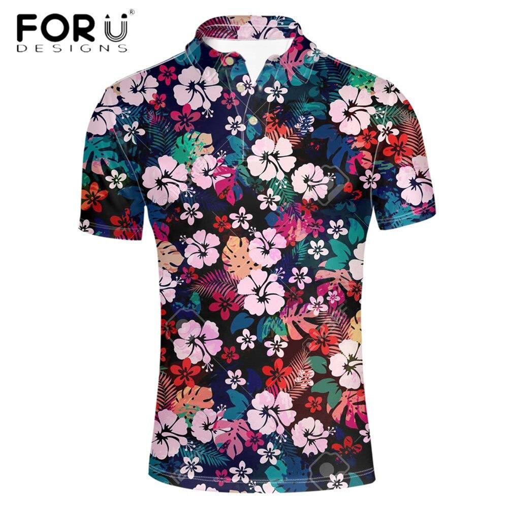 FORUDESIGNS-قميص رجالي بتصميم هاواي ، قمصان شاطئ ، قمصان رياضية ، لياقة بدنية ، أكمام قصيرة ، 2020
