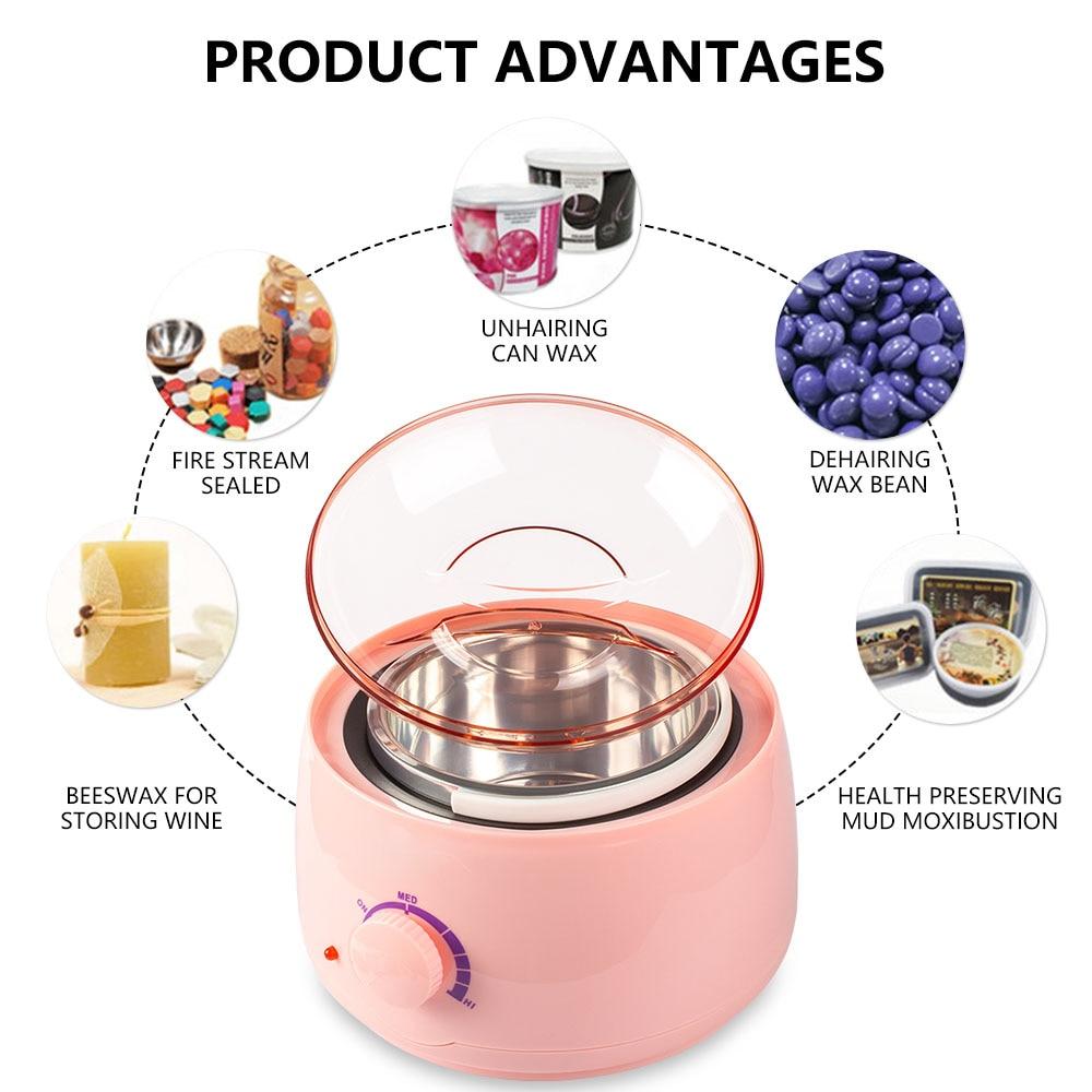 Wax Heater Warmer Wax-melt  Machine Set Waxing Kit for Hair Removal Wax Beans Bead Heating Machine Paraffin Depilatory Epilator enlarge