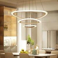 Led Pendant Lights Creative Ring Modern Minimalist Living Room Dining Room Lamp Smart Chandelier Lighting Modern