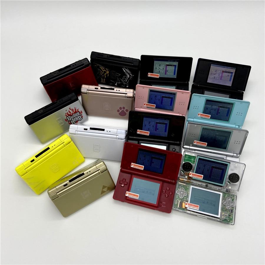 مجددة باحترافية لنينتندو DS لايت لعبة وحدة التحكم لنينتندو DSL لعبة النخيل مع بطاقة الألعاب وبطاقة ذاكرة 16 جيجابايت