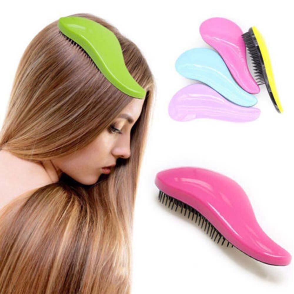 Hot New 1Pcs 18.5cm Portable Magic Handle Tangle Detangling Knot Free shower Hair Brush Comb Shower Salon Styling Tamer Tool