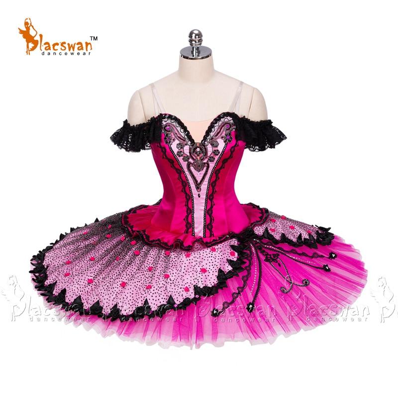 Nutcracker traje dançarino espanhol traje rosa paquita prato tutu kitri clássico ballet tutu vestidos para adultos bt924