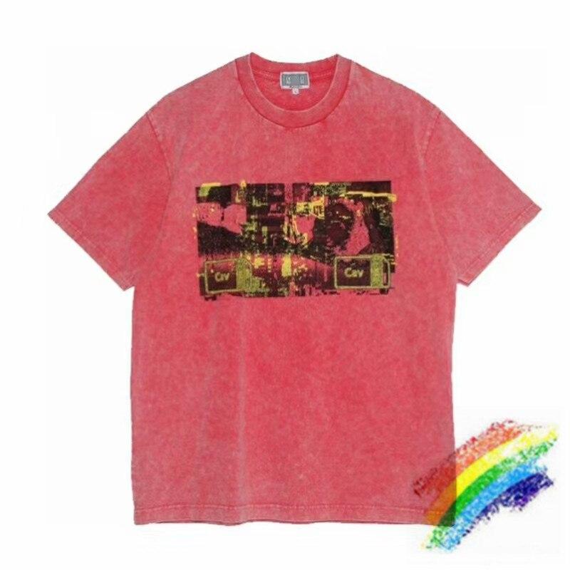 Красная Overydye CAVEMPT Футболка мужская и женская 11 высокое качество базовые Топы футболки C.E Cav Empt футболка