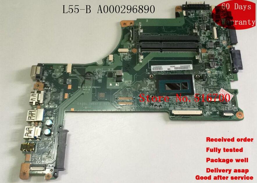 Las placas principales DA0BLIMB6F0 para TOSHIBA SATELITTE L55-B5294 L55-B L50-B MOTHERBOARD A000296890
