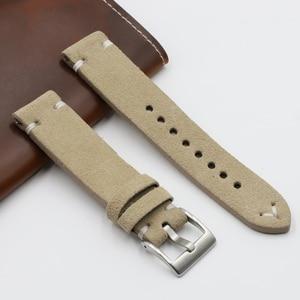 Onthelevel Handmade Watchband Genuine Suede Leather Watch Strap 18 20 22 24mm Quatilty Smooth Velvet Replacemnet Bracelet #C