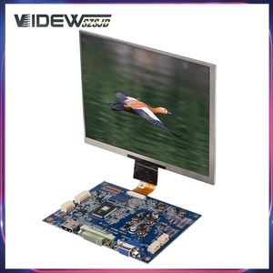 LED Display Module 8 Inch HD LCD TFT Screen with Keypad Compatible with VGA HDMI DVI Computer RGB Universal Display Screen