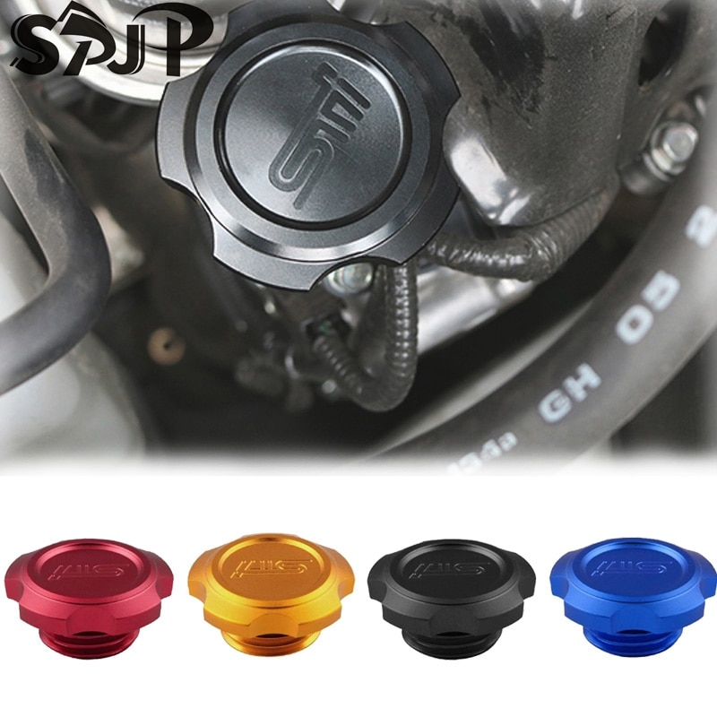 Car Exterior Parts 4 Colors Available Aluminum Engine Oil Filler Cap For WRX STi GC GD GF GM GG GE Tank Covers