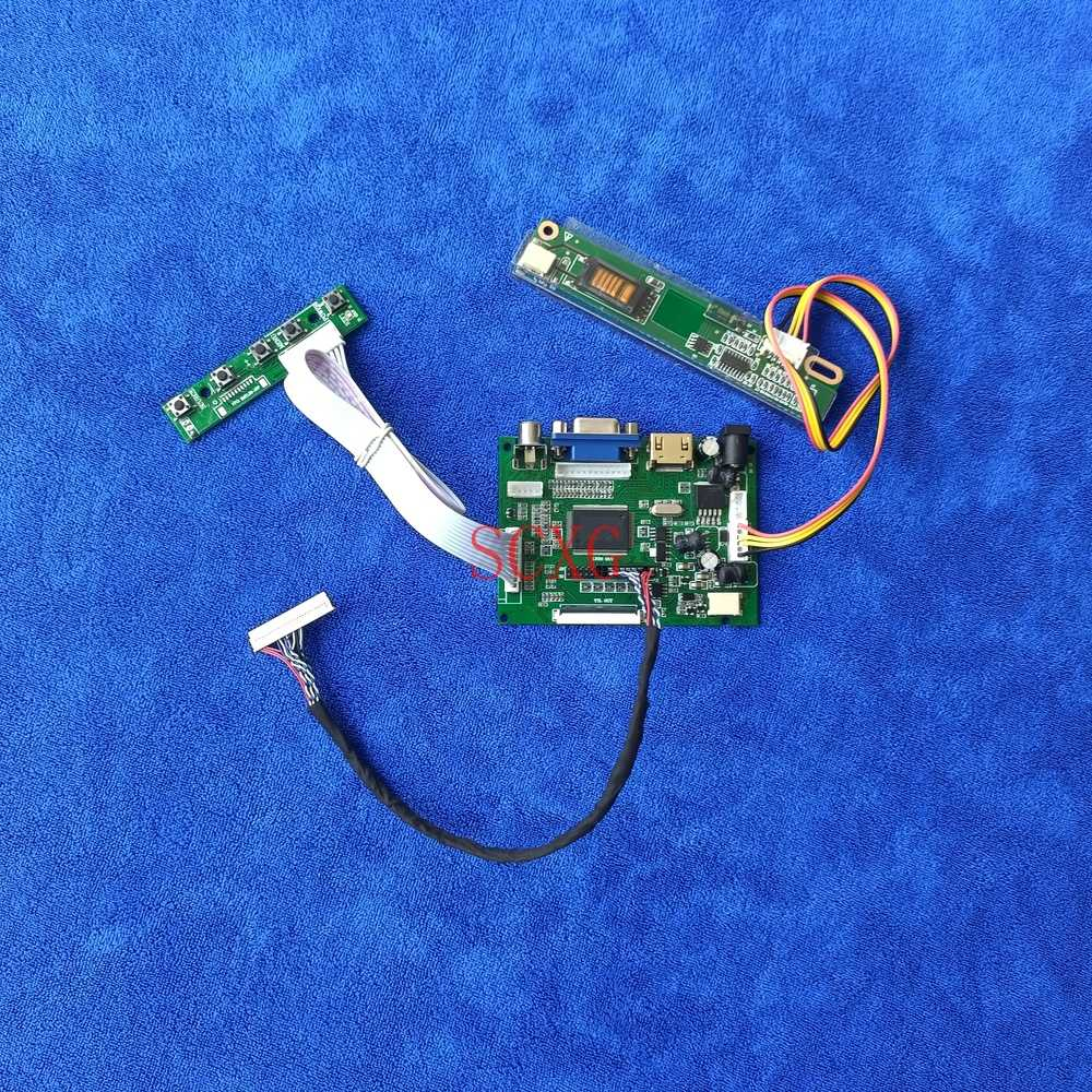 LVDS 30-Pin 1024*768 VGA 2AV HDMI-متوافق 1-CCFL وحدة تحكم بشاشة إل سي دي محرك مجلس صالح HT14X1B-111/HT14X1B-121 لوحة مصفوفة لتقوم بها بنفسك عدة