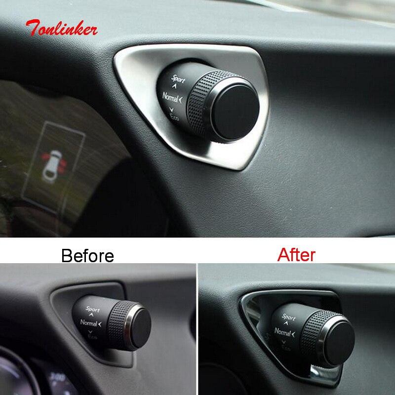 Tonlinker pegatinas de cubierta de modo de drenaje Interior de coche para Lexus UX200 260h 2019 pegatinas de cubierta de acero inoxidable 2 uds