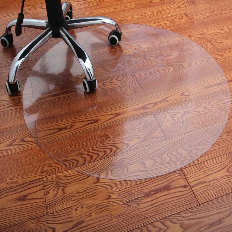 Прозрачные деревянные коврики для защиты пола напольное покрытие из ПВХ офисная подушка для компьютерного кресла защитная накладка Мягкий...