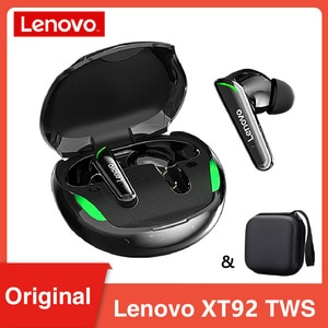 New Lenovo XT92 TWS Gaming Earphones BT5.1 Noise Cancelling Low Latency Touch Control Headset Wireless Sport Earbuds With Mic