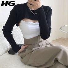 Женские вязаные шарфы HG, элегантные однотонные плиссированные элегантные шарфы в повседневном стиле, ZYQ4364, 2020