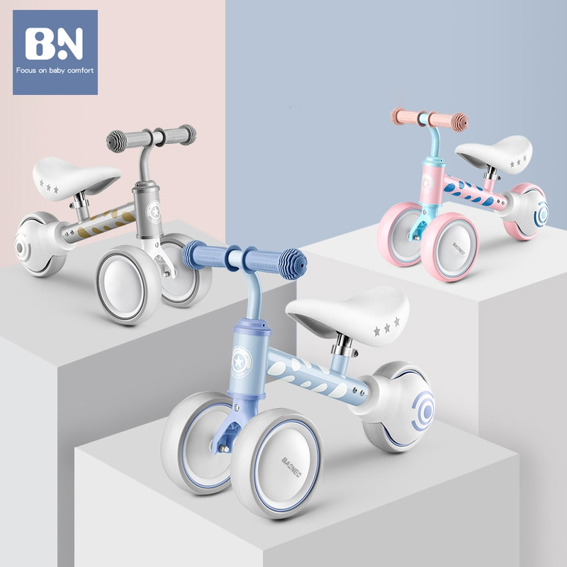 BN Children Three-wheeled Bicycle Tricycle Scooter Balance Bike Kids Educational Walkers Kids' Ride-on Toys Best Gift for Baby