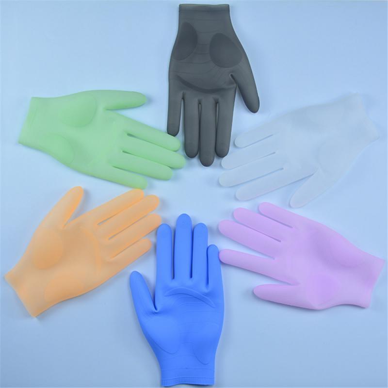 Luvas de silicone reutilizáveis, luvas de silicone resistentes a alta temperatura e à água, resistentes ao óleo, para lavar roupas, cozinha