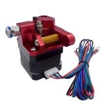 CR10S PRO mejora engranaje doble Mk8 Kit extrusor de Metal para CR10S PRO Ender3 RepRap 1,75mm alimentador 3D impresora extrusora de doble polea