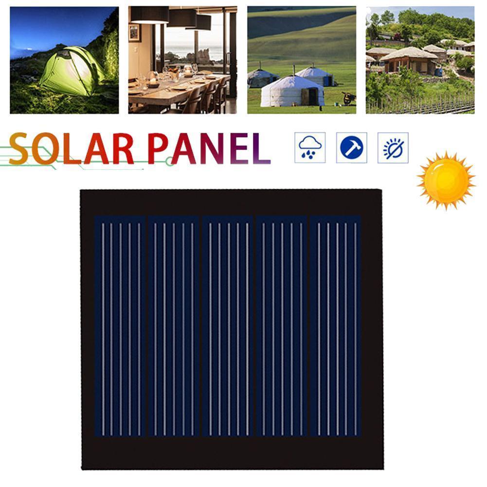 2,5 v 110ma Runde Schwarz Mini Solar Panel 51.5*48mm Polykristalline Kleber Camping Werkzeug Tragbare Silicon Diy Outdoor lade B K6Z4