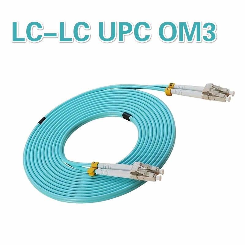 Customized LC to LC OM3 2.0MM 3.0MM UPC Multimode Duplex 3.0MM Fibra fiber optic patch cord Cable 10M 25M 30M 1PCS