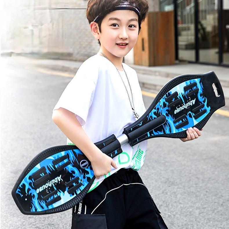Портативный светящийся скейтборд для детей и подростков, скейтборд для начинающих, скейтборд, оборудование для фитнеса для пациентов, DK50WB