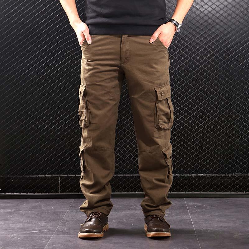 السراويل الرجالية فاليزا متعددة الجيوب السراويل العسكرية نمط التكتيكية القطن ملابس خارجية للرجال بناطيل كاجوال مستقيمة للرجال CK102