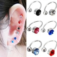top quality 6mm aaa zircon chic filled tragus earring for women non piercing clip earring punk ear cuff 2020 brincos