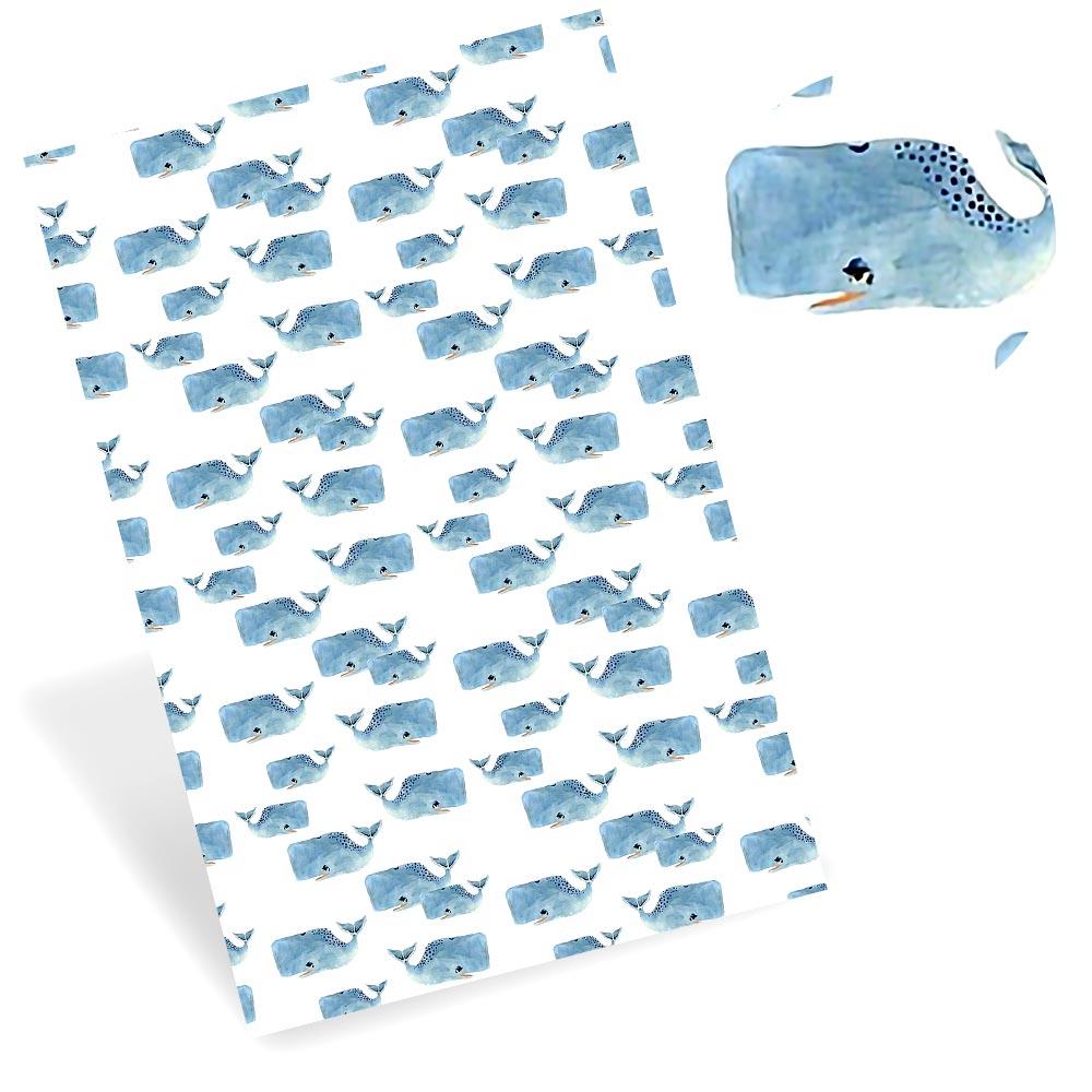 Ibows falso folha de couro sintético baleia gato cão padrão impresso tecido de couro diy saco cinto sofá material feito à mão 22*30 cm/pc