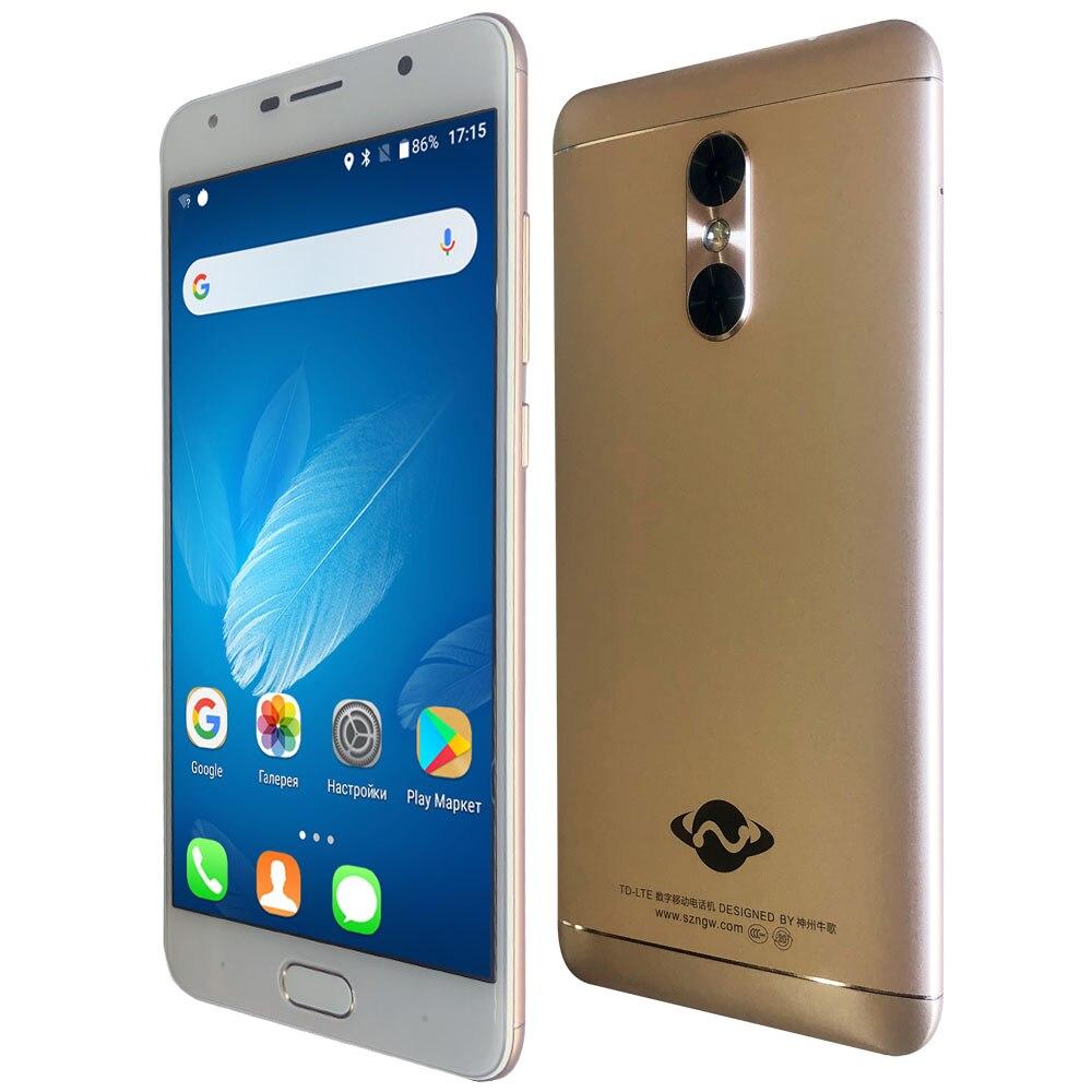 "Corpo de Metal 4GB de RAM GB ROM SANTIN 64 NG3 5G Wifi 3000mAh 5.5 ""Full HD MTK6750T octa Núcleo 13MP ID de Toque Smartphone 4G LTE Telefone OTG"