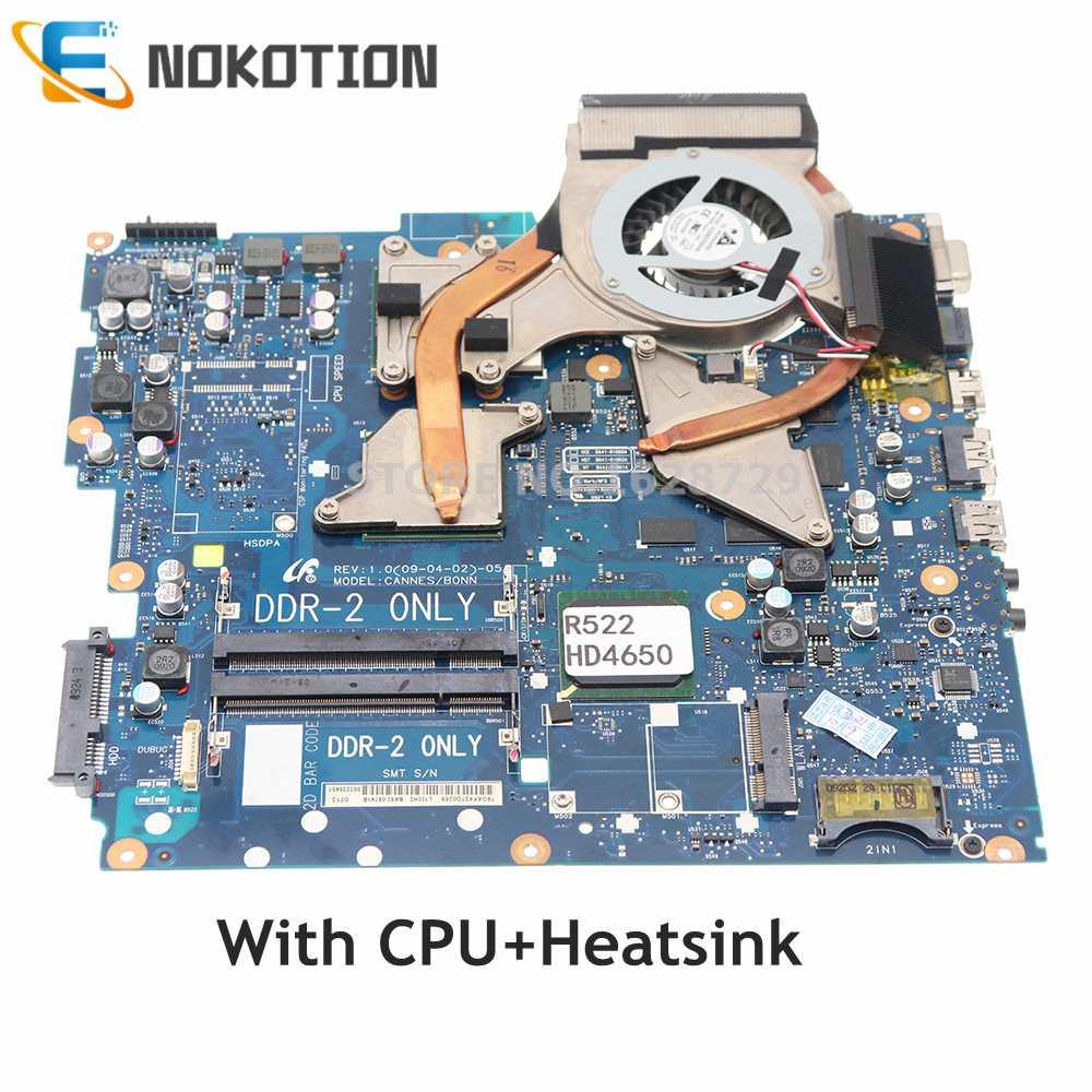 NOKOTION BA92-05741B BA92-05741A لأجهزة الكمبيوتر المحمول سامسونج R522 R518 R520 اللوحة DDR2 HD4650 وحدة معالجة الرسومات مع وحدة المعالجة المركزية + المبرد