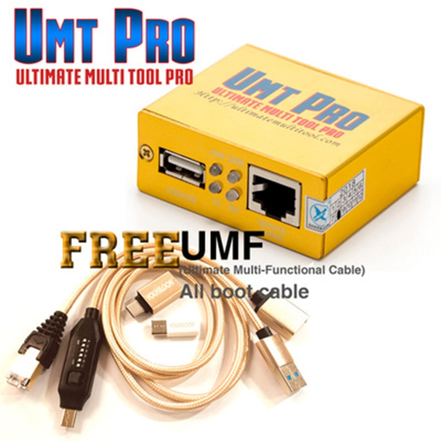 Newest 100% Original UMT Pro BOX UMT UMT BOX + AVB BOX 2in1 box + UMF all boot Cables
