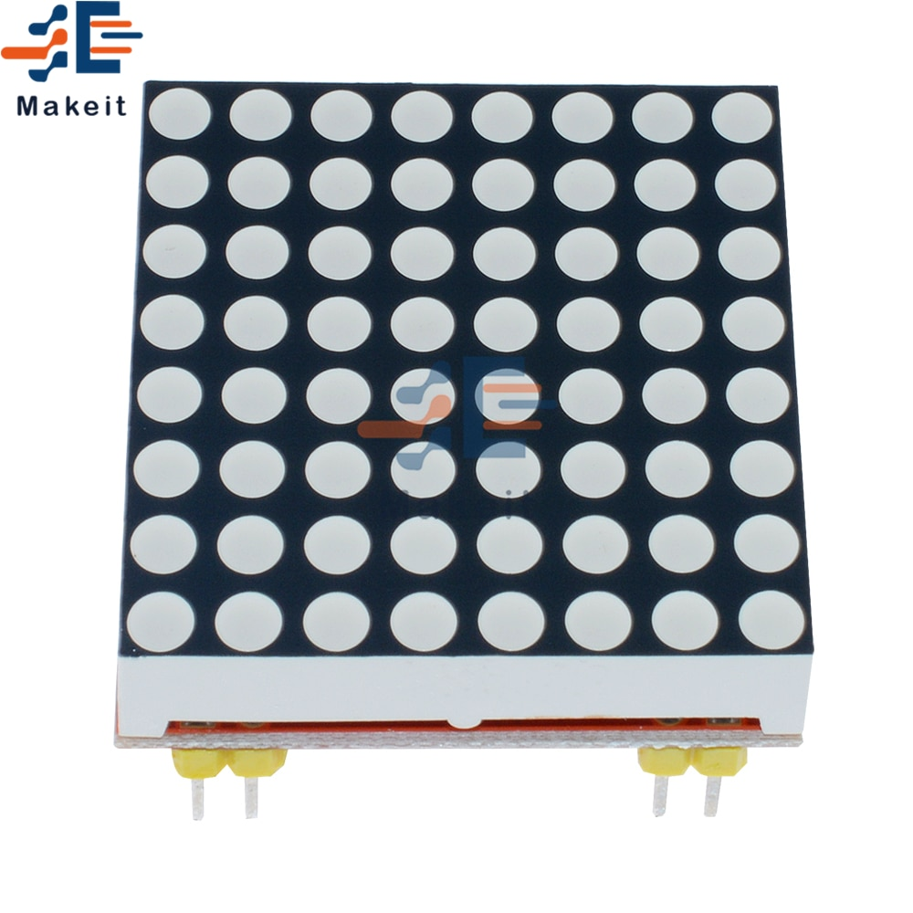 max7219 led microcontroller 4 in 1 display dot matrix module 5v operating voltage for arduino 8x8 dot matrix common Red MAX7219 LED Dot Matrix Common Cathode Microcontroller Display Module Control 5V/3.3V LED Matrix 8x8 for Arduino