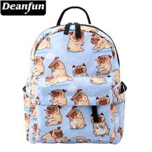 Deanfun Mini mochilas para niñas estampado lindo Pug bolsas pequeñas impermeables para mujeres bolsa de compras para chicas adolescentes MNSB-5