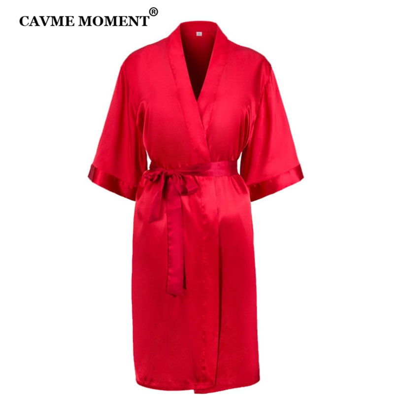 CAVME 2pcs Custom Bride Robe Women's Kimono Satin Gown Wedding Bridesmaid Gift Femmel Summer Sleepwear Floral Bathrobe