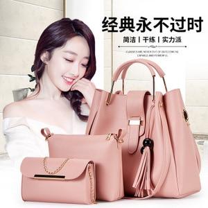 2019 Handbags Shoulder Bag Handbags Mother Bag Fashion Three-piece Large Capacity Bucket Women Bag Детская сумка женская сумка