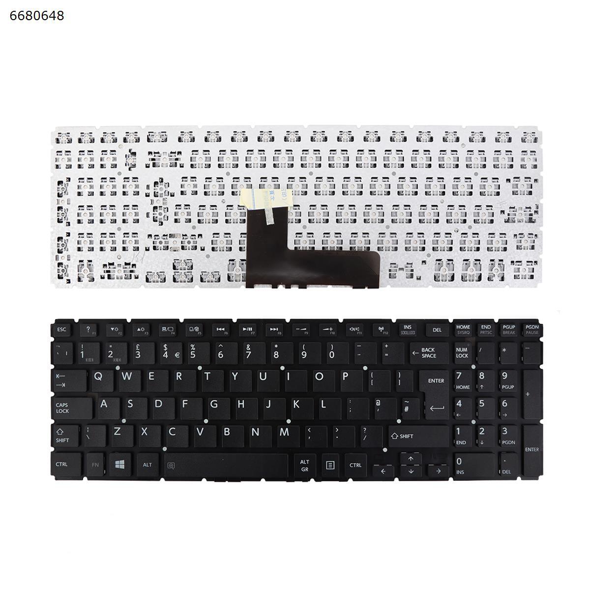 b UK Laptop Keyboard TOSHIBA Satellite L50-B S50-B L50D-B L50T-B L50DT-B S55-B S55T-B S55D-B BLACK Without FRAME Without Foil