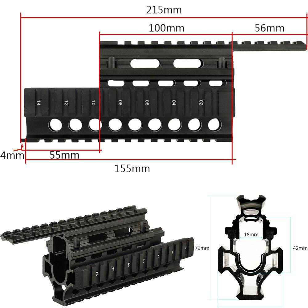 Táctico AK guardamanos RIS Quad sistema ferroviario estándar riel Picatinny Weaver alcance soportes para AK47 74 AKs arma Accesorios