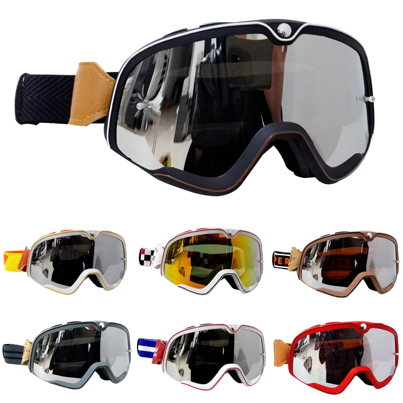 dustproof motocross glasses adjustable motorcycle goggles breathable full face protective dirt bike motorbike dirt bike off road Retro Motocross Goggles MX Off Road Dirt Bike Motorcycle Helmets Goggles Ski Moto Glasses ATV For Motocross Glasses Sets