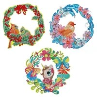 diy diamond painting animal wreath flower 5d special shape partial drill crystal diamond art kits gift