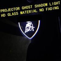 2pcs For LAMBORGHINI URUS AVENTADOR HURACAN GALLARDO Car HD No Fading LED Door Welcome Light Projector Ghost Shadow Light