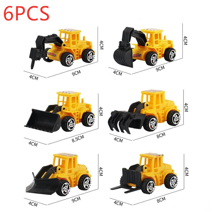 6pcs Car Model Toy Kids Toy Cays Diecast Engineering Vehicle Fire Truck Mini Racing Car Children Toys Birthday Presents недорого