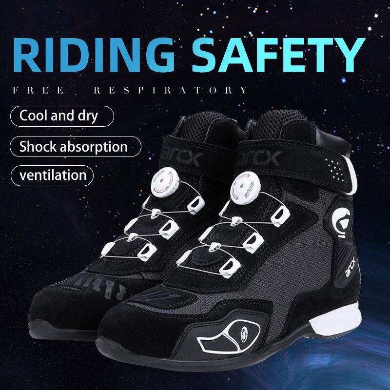 ARCX جديد للدراجات النارية ركوب الأحذية تنفس واقية في الهواء الطلق الأحذية الدورية تعديل تصميم أحذية الصيف