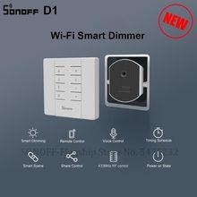 Умный регулятор яркости Itead SONOFF D1, Wi Fi минипереключатель с поддержкой диммирусветильник, работает с Sonoff RM433 для умного дома