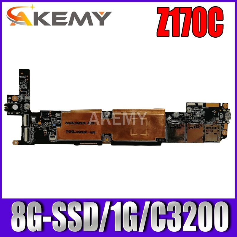 Z170CG Tablet Motherboard For Asus Zenpad C 7.0 Z170C Z170 Test Motherboard 8GB-SSD 1G Ram Atom C3230 Cpu REV 1.6 1.5 1.3 1.2