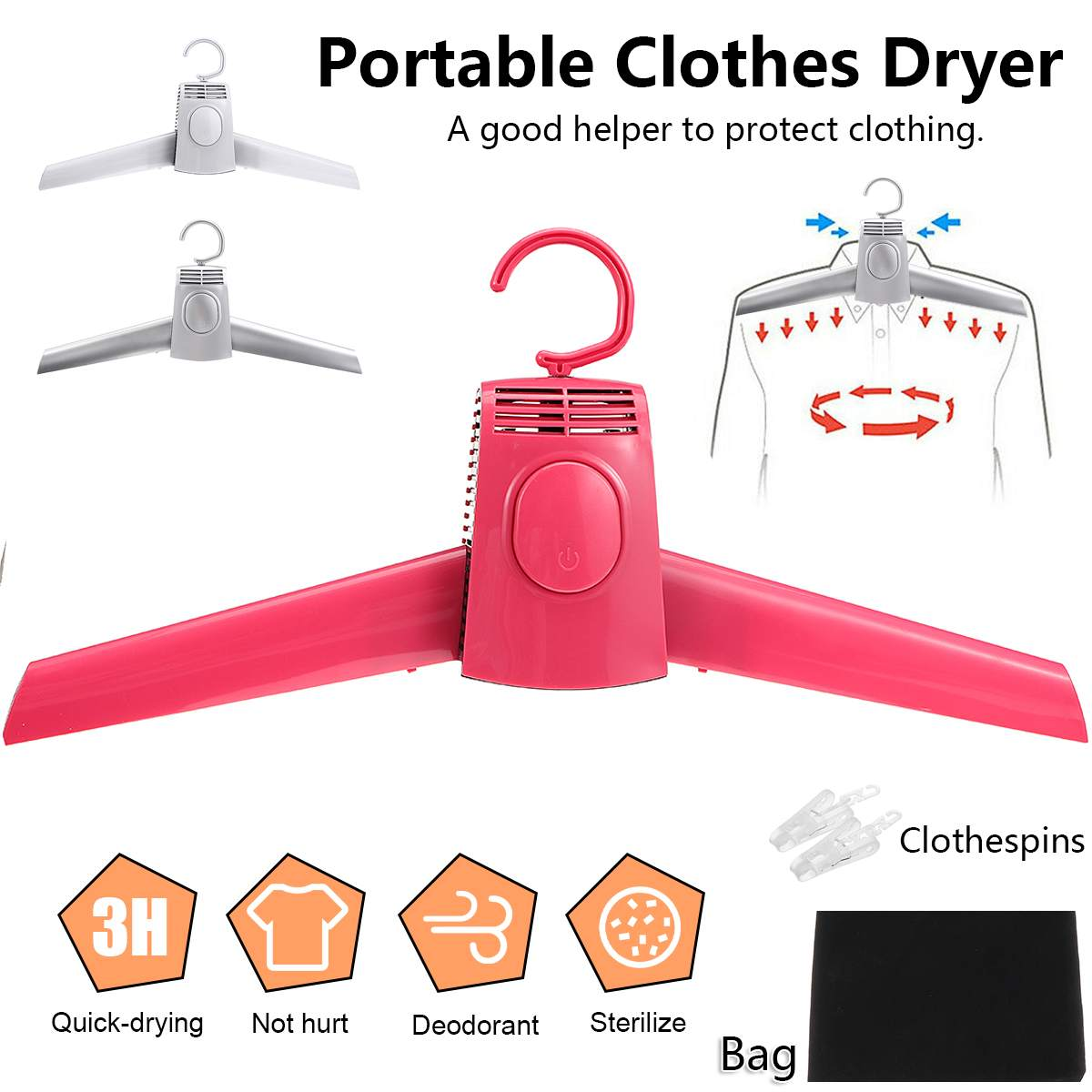 Электрическая сушилка для одежды, умная подвесная сушилка для одежды, портативная уличная дорожная Складная мини-сушилка для одежды, обуви