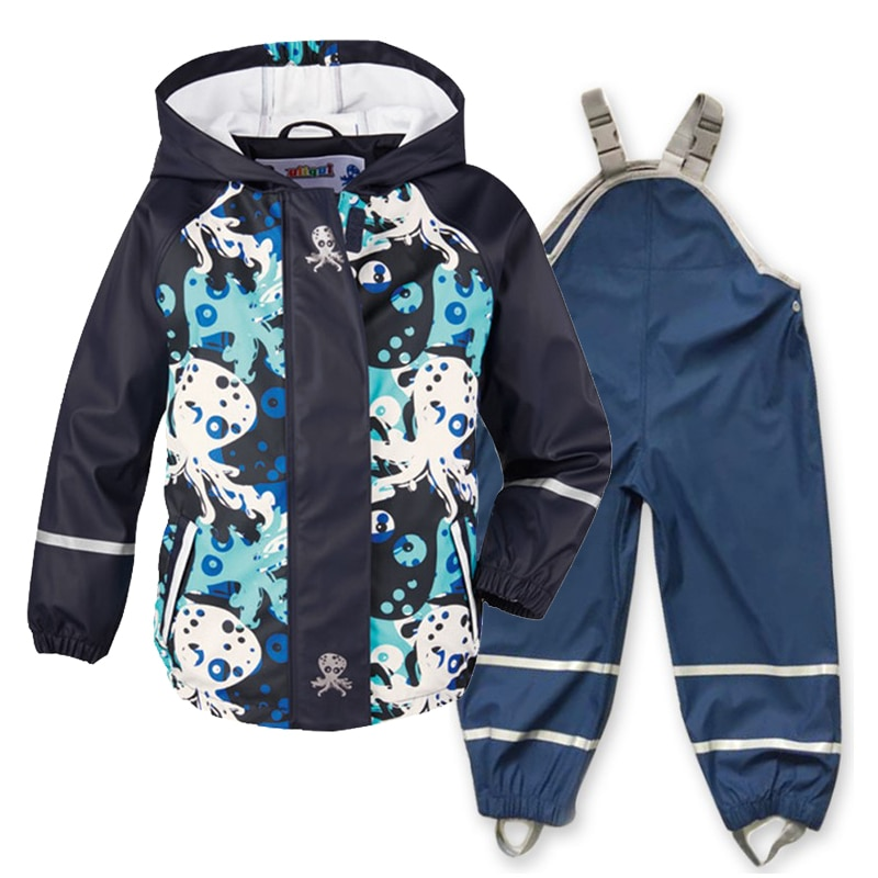 الربيع والصيف والخريف الأطفال الجديد بو الجلود المعطف معطف واق من المطر مقاوم للماء يندبروف
